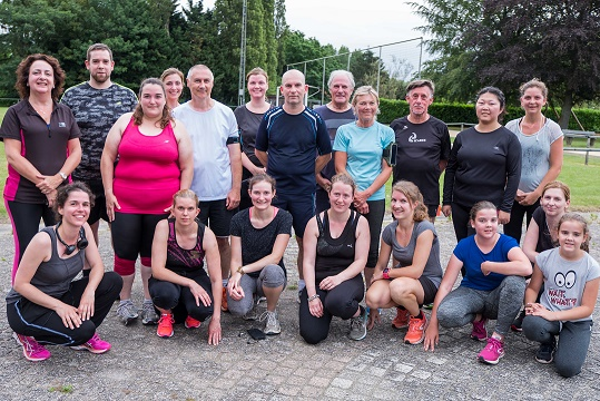 Groepsfoto deelnemers begin-to-run 2018